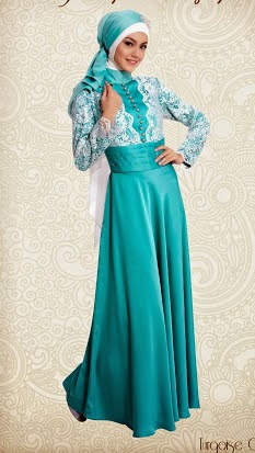 model baju long dress muslimah