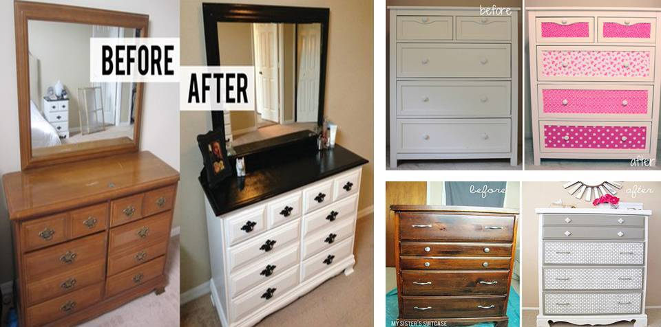 Home Decor Before And After Diy Bedroom Dresser Makeover
