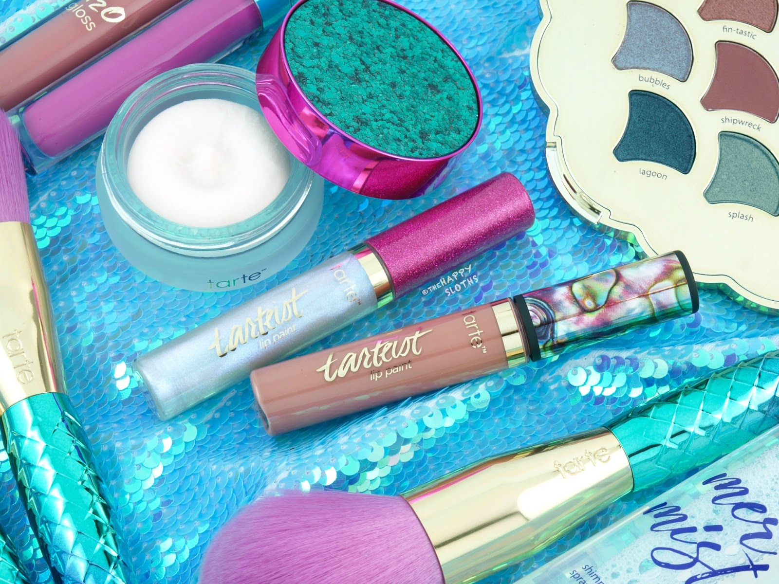 "Tarte Mermaid Collection | Tarteist Quick Dry Matte Lip Paint in ""Exposed"" & Holographic Lip Gloss: Review"