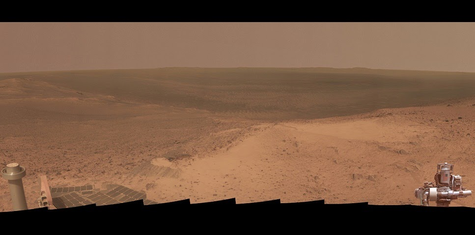 s Mars Exploration Rover Opportunity gained from the transcend of the  Hilltop Panorama Marks Opportunity's 11th Anniversary