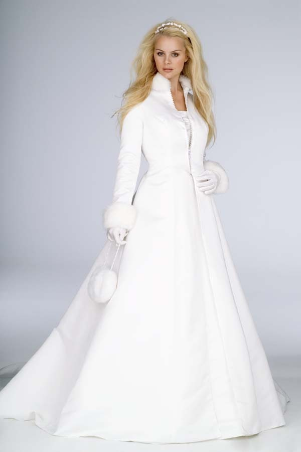 Winter Wedding Dress Designs With Snow White - Wedding Dress