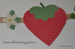 strawberry banner, Stampin' Up!, #stampinup, trude thoman, http://stampwithtrude.blogspot.com, summer