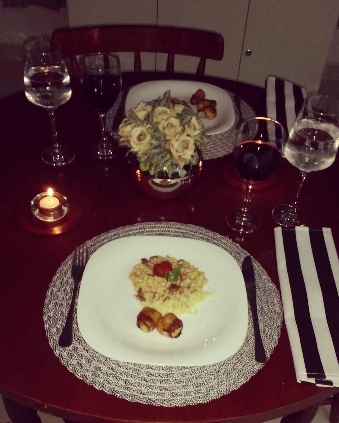 Muitas vezes Casadíssima: Jantar romântico - aniversário de 8 anos de namoro BZ76