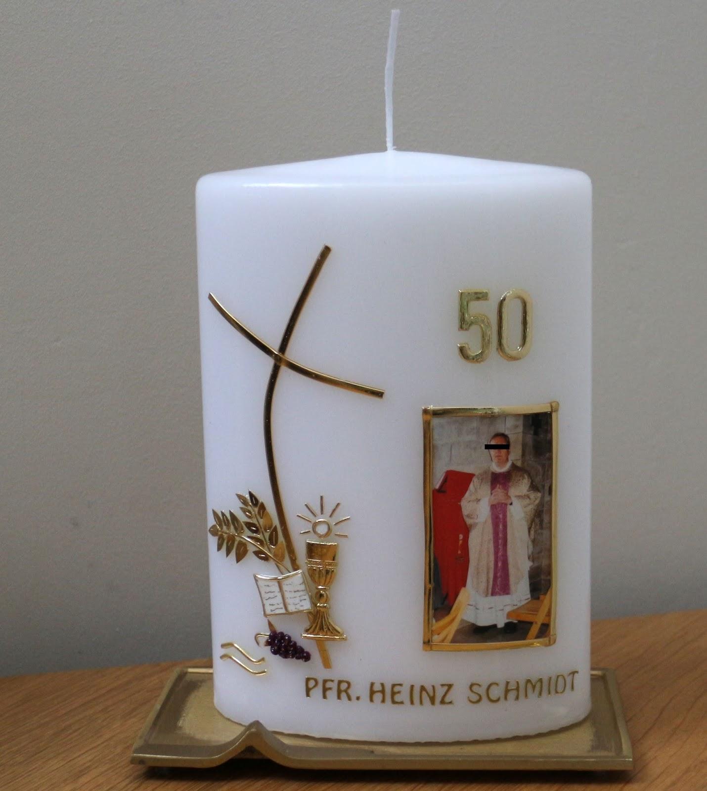 Helgas Kerzen und Kartenzauber März 2017 Einzigartig Goldene Hochzeit Geschenk Kerze