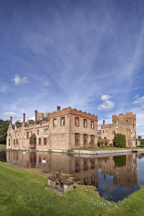 Sunny afternoon at Oxburgh Hall in Norfolk
