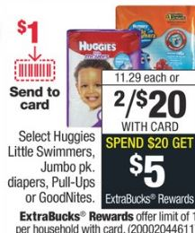 Huggies Diapers cvs deal