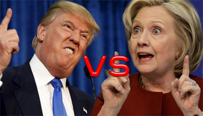 United States presidential election : Hillary Clinton vs Donald Trump