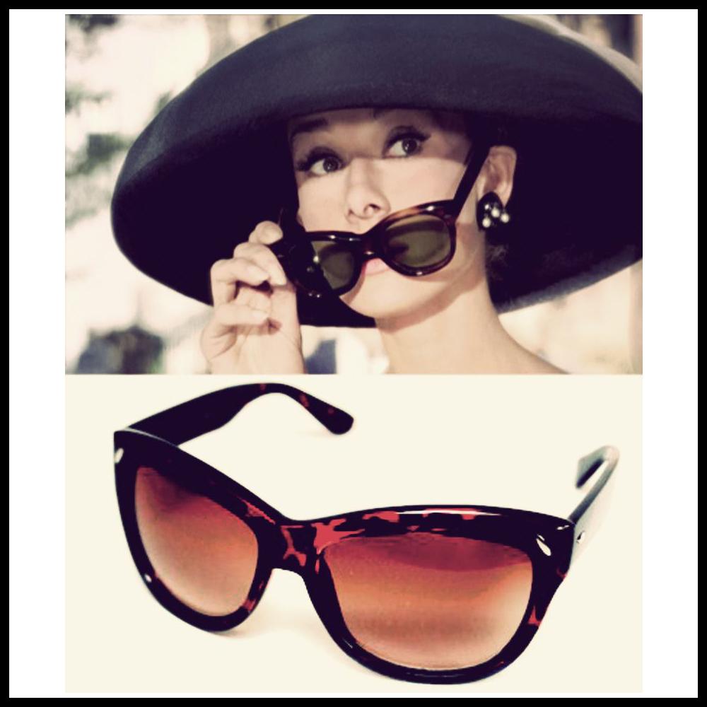 """dc830c7888aff Po wejściu na ekrany """"Śniadania u Tiffany'ego zapanowała szaleńcza moda na  ogromne okularu słoneczne """"Manhattan"""", które Audrey nosiła jako Holly  Golightly i ..."""