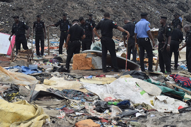 Olusosun Dumpsite: Lagos Police Destroy Shanties Built By Miscreants