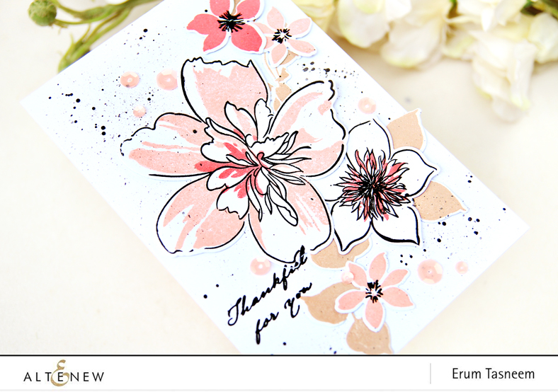 Altenew Floral Art Stamp Set | Erum Tasneem | @pr0digy0