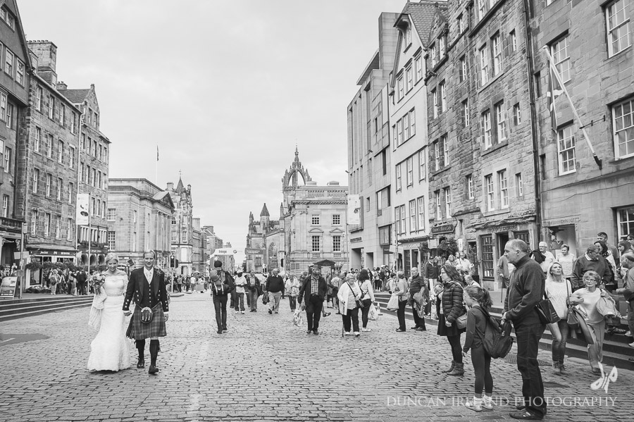 Edinburgh Street Wedding Photography