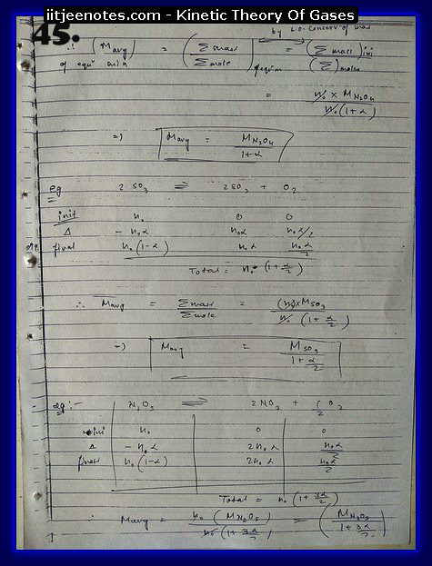 Kinetic Theory Of Gases Notes IITJEE15