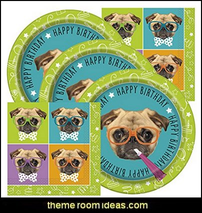 Pug Themed Birthday Party Supplies Puppy
