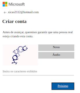 Criar email Outlook MSN Live