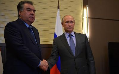 President of Russia Vladimir Putin and President of Tajikistan Emomali Rahmon.