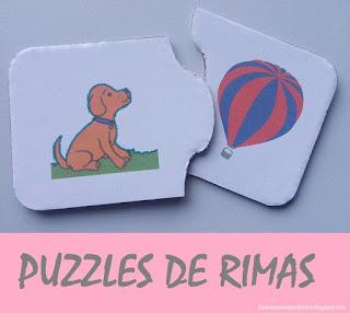 Puzzles de rimas (consciência fonológica)