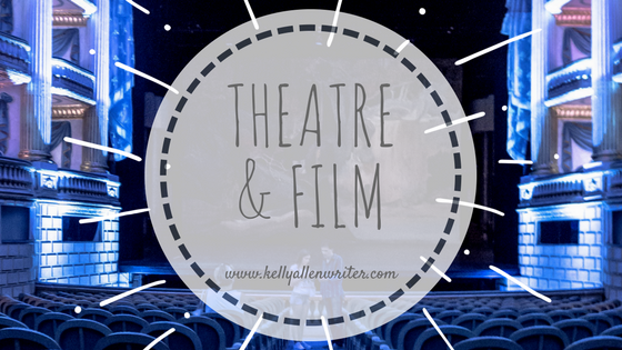 Background of theatre with title 'theatre & film'