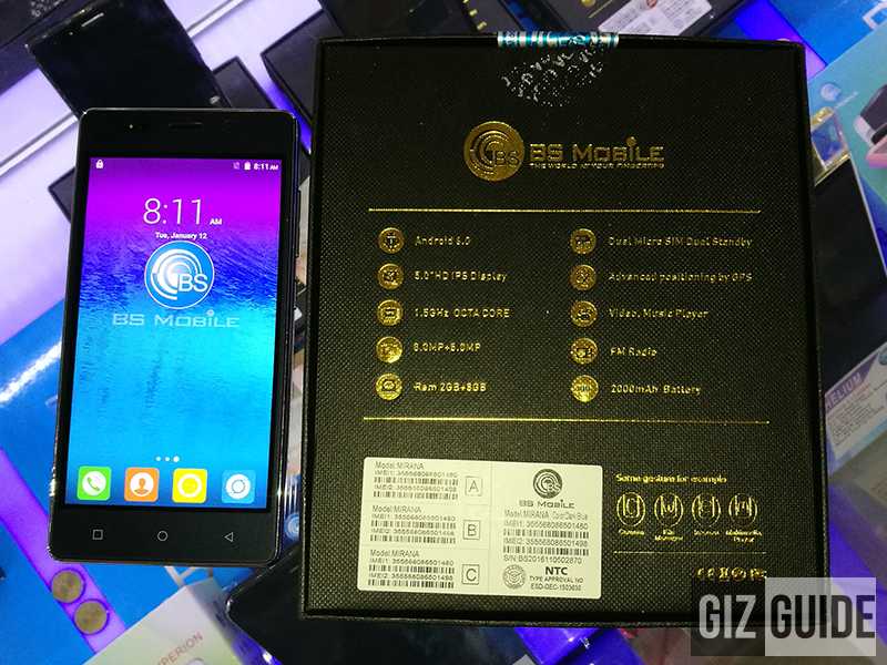 BS Mobile Mirana Has An Octa Core Chip And 2 GB RAM For PHP 2899!