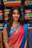 Puja Hegde looks stunning in Red saree at launch of Anutex shopping mall ~ Celebrities Galleries 060.JPG