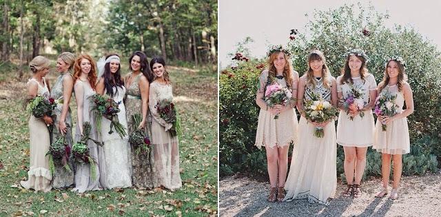 бохо свадьба фото подружки невесты платья