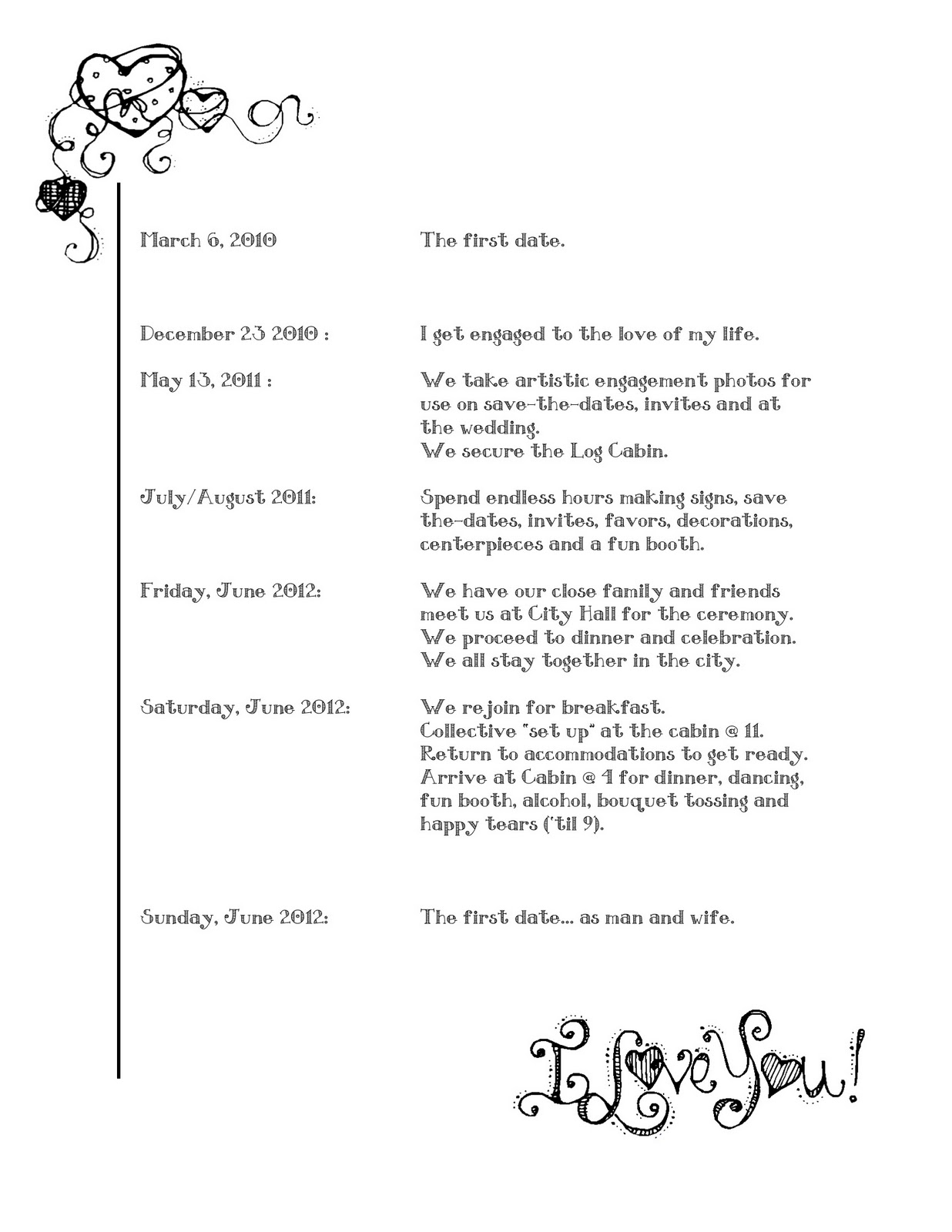 Order Of Events For A Wedding Invitationjpg