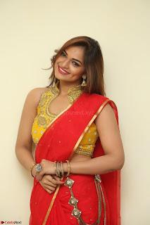 Actress Ashwini in Golden choli Red saree Spicy Pics ~  063.JPG