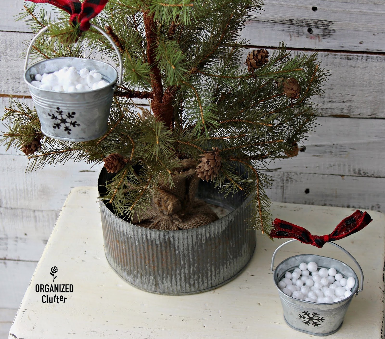Hobby Lobby Farmhouse Christmas Crafting With Galvanized Pails Stencils Organized Clutter