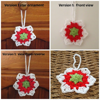 crochet christmas star ornament