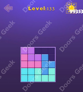 Cheats, Solutions, Walkthrough for Move Blocks Easy Level 133