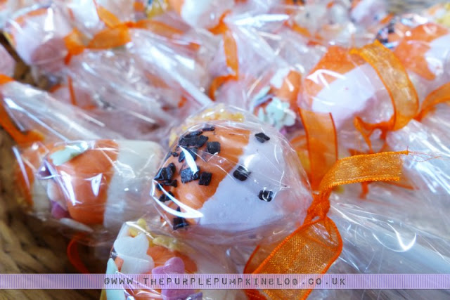 [Orange & Yellow 40th Birthday Party] Marshmallow Pops