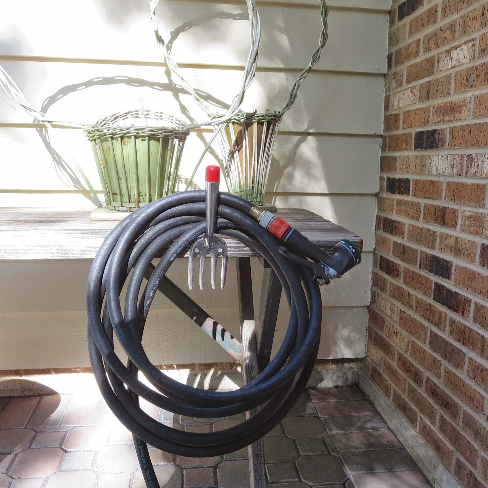 Hose Stands: Anything Goes Here: Diy Garden Hose Holder. A Simple
