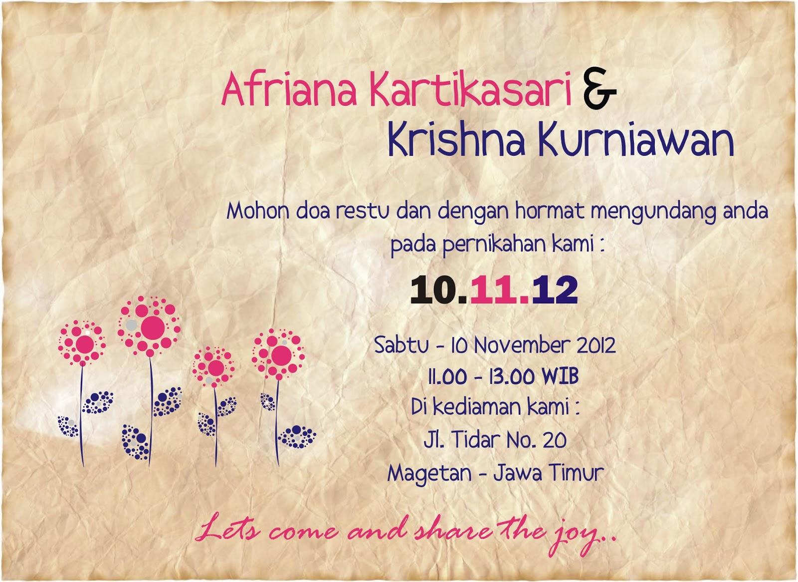 A Life Wedding E Invitation