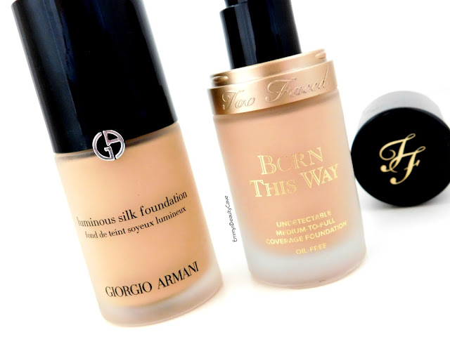 Giorgio Armani Luminous Silk Foundation vs Too Faced Born This Way Foundation