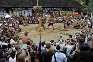 Tradisi perang pandan di desa tengenan