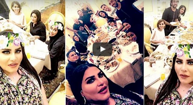 بالفيديو فيديو| أحلام تصور ضيوفها خلال عشاء فاخر في منزلها شاهدوا ماذا حصل!