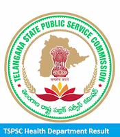 TSPSC Health Department Result