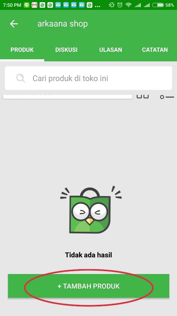 Tambah produk berjualan di Tokopedia