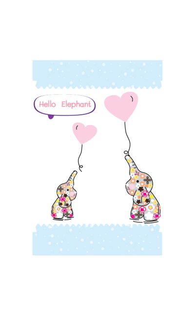 Cute elephant theme v.1