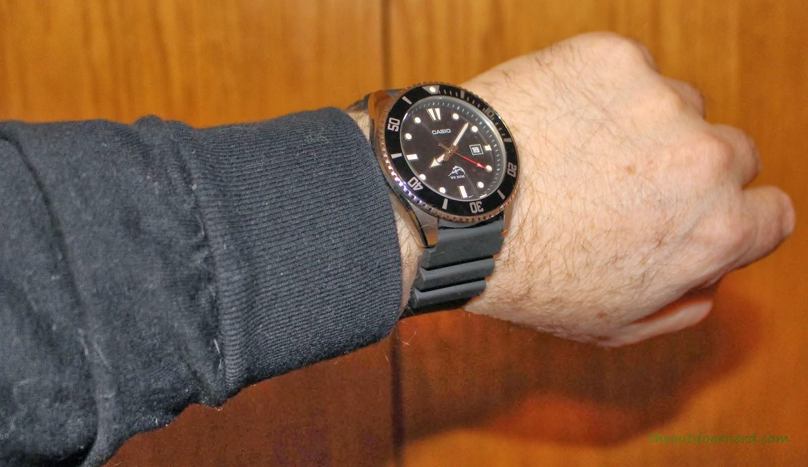 Casio MDV106-1A Diver's Watch: On Wrist