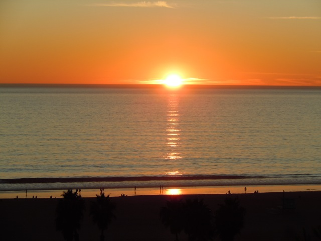 Sunset Santa Monica California