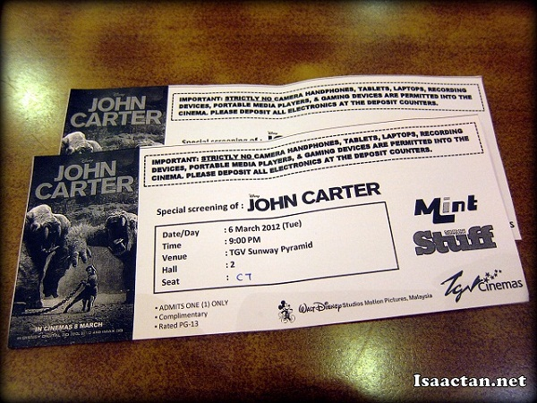 Premiere screening for John Carter (2012) movie review