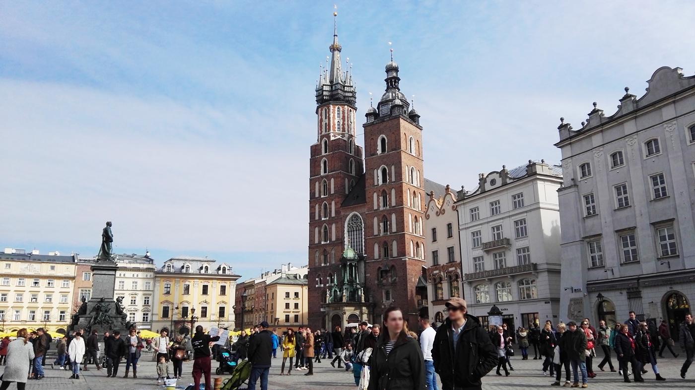 Kraków w marcu rynek