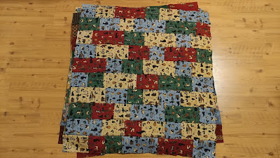 Debbie Mumm fabric for quick and easy charity quilts