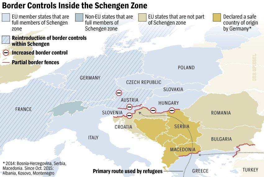 Border controls inside the Schengen zone