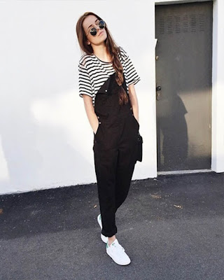 women fashion casual black and white