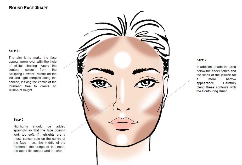 how to get round face shapes
