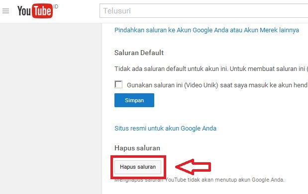 Cara Cepat Menghapus Channel/Saluran Youtube