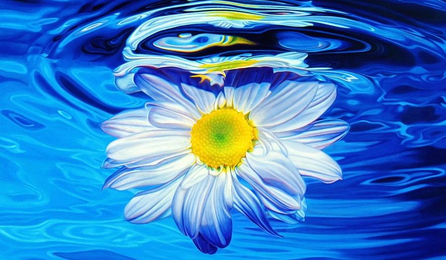 Flores En Dibujo A Color: Imágenes Arte Pinturas: Cuadros Muy Coloridos Con Flores