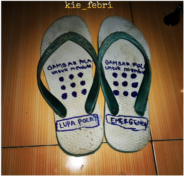 Sandal dengan password