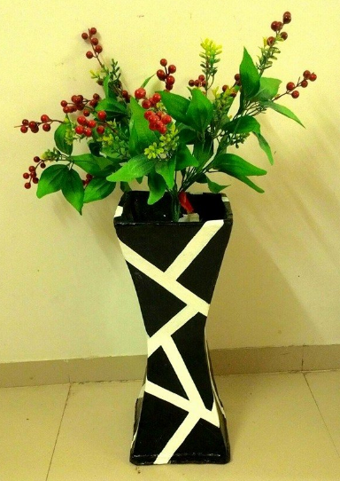 Cara Mudah Membuat Vas Bunga Berbahan Kardus Bekas Carakreatif Com